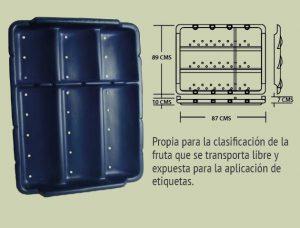 Plásticos-Medellín-Bandejas-007 ref 2b bandeja plana cuatro canales borde alto
